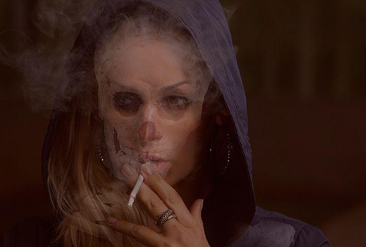 Scary mask smoker